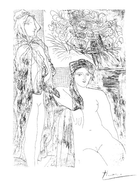 Two Nudes and Portrait of Rembrandt